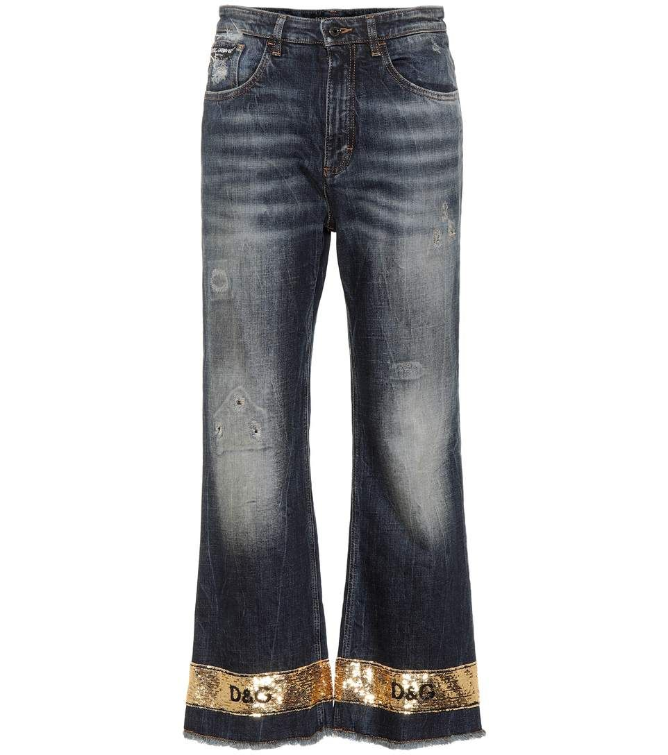 Embellished wide-leg jeans Dolce & Gabbana Discount With Mastercard 2018 Cheap Choice Cheap Top Quality Sale Fast Delivery Ex4ozK