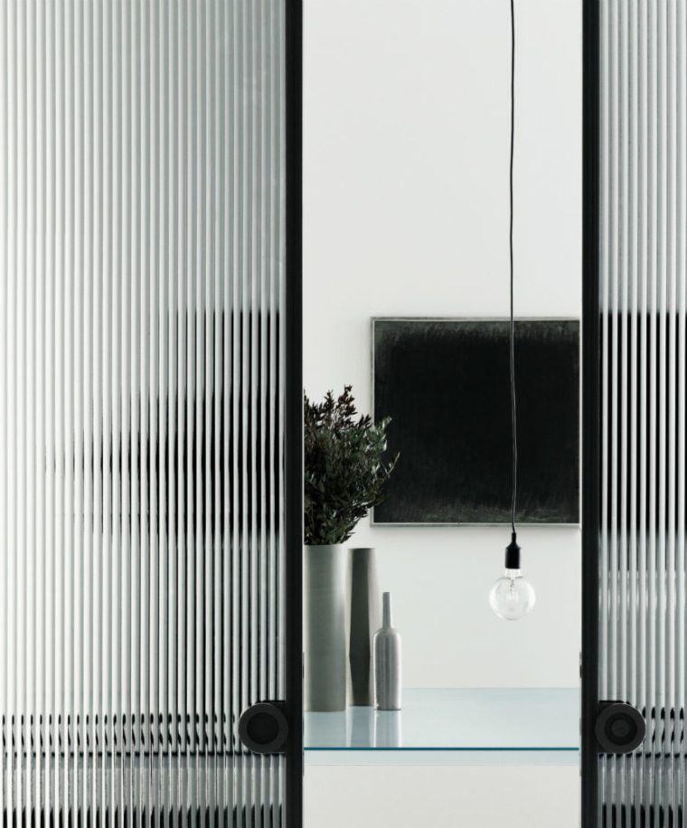 porte intérieur design double moderne verre porte coulissante - Porte De Maison Interieur