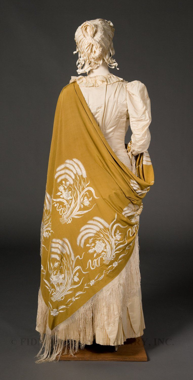 Wheat Motif Shawl  1875-1885