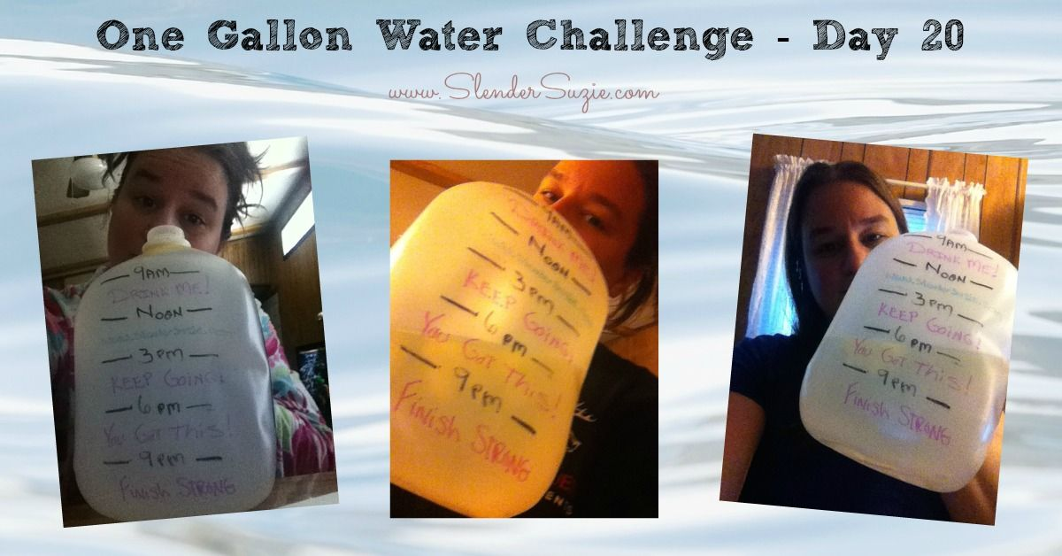 Well, so far so good. I have been drinking my gallon of water very faithfully each and every day!   Well except for 3 of them – and let me tell you why I know am 110% sure I need to drink as …