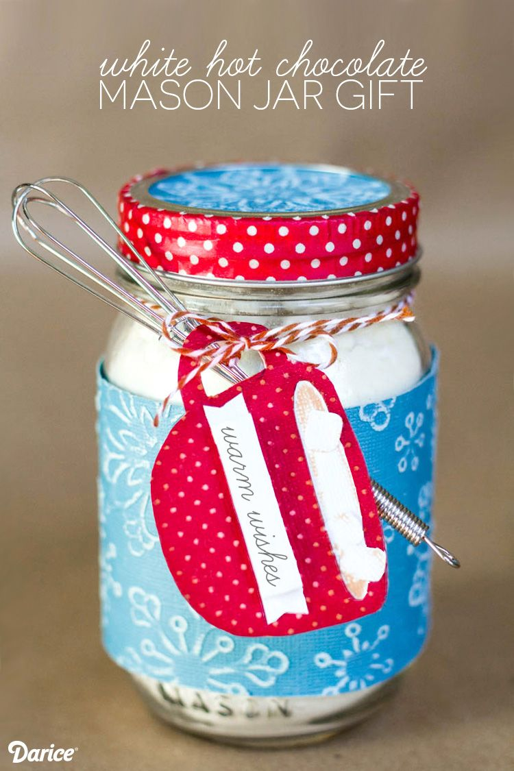 these white hot chocolate mason jar christmas gifts with printable are perfect for sending warm wishes they come together super quickly ill show you how