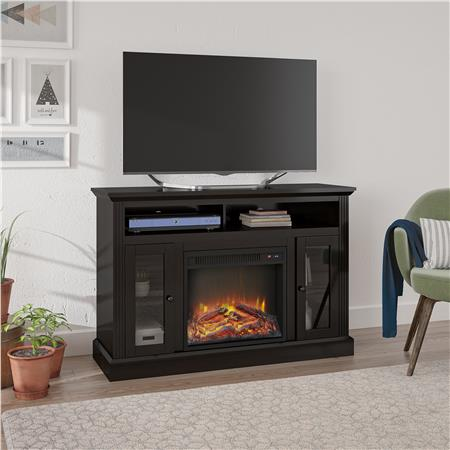 Ameriwood Furniture Chicago Electric Fireplace Tv Console For Tvs Up To A 50 Espresso Fireplace Tv Stand