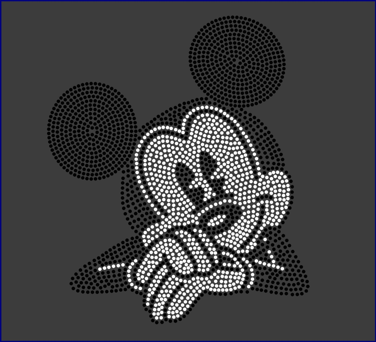 Mickey Mouse Silhouette Iron On