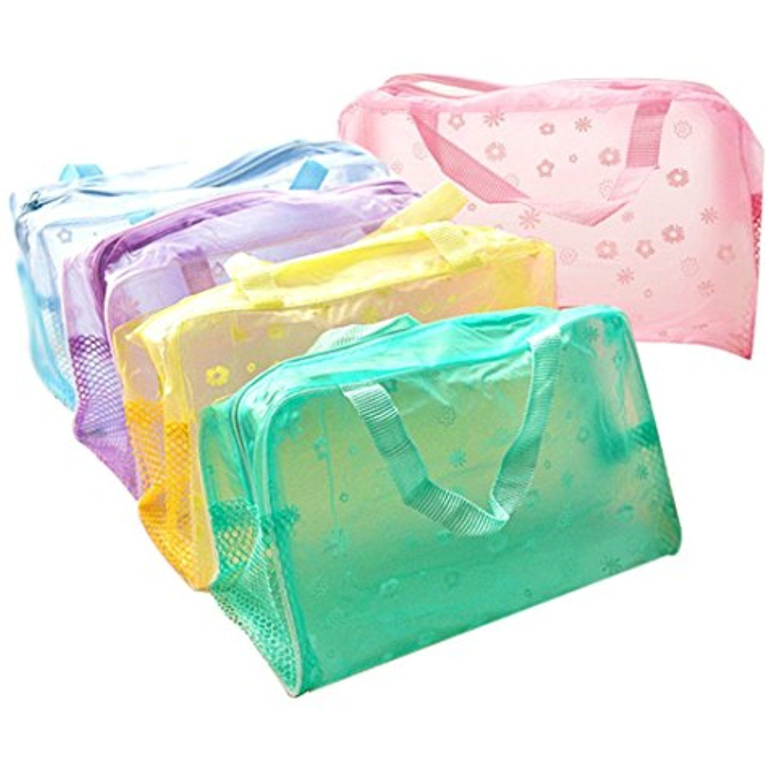 Sunward Women Waterproof Pvc Clear Storage Box Case Makeup Bag Travel Organizer Pouch 5 In 1 Bags Cheap Buy Quality Laundry Directly From China Suppliers Pcs Set Portable Colors Wash