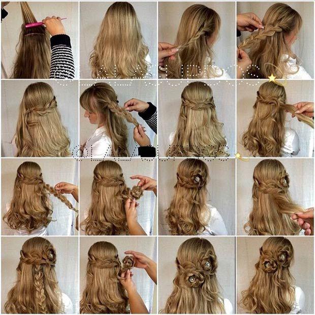 26 Stunning Half Up Half Down Hairstyles Stayglam Half Up Half Down Hair Prom Hair Styles Half Up Half Down Hair