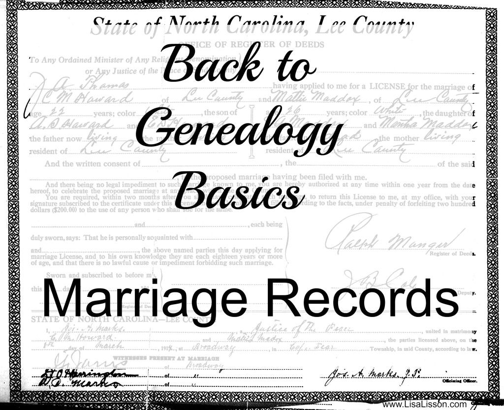 Back to genealogy basics marriage records marriage records back to genealogy basics marriage records aiddatafo Images