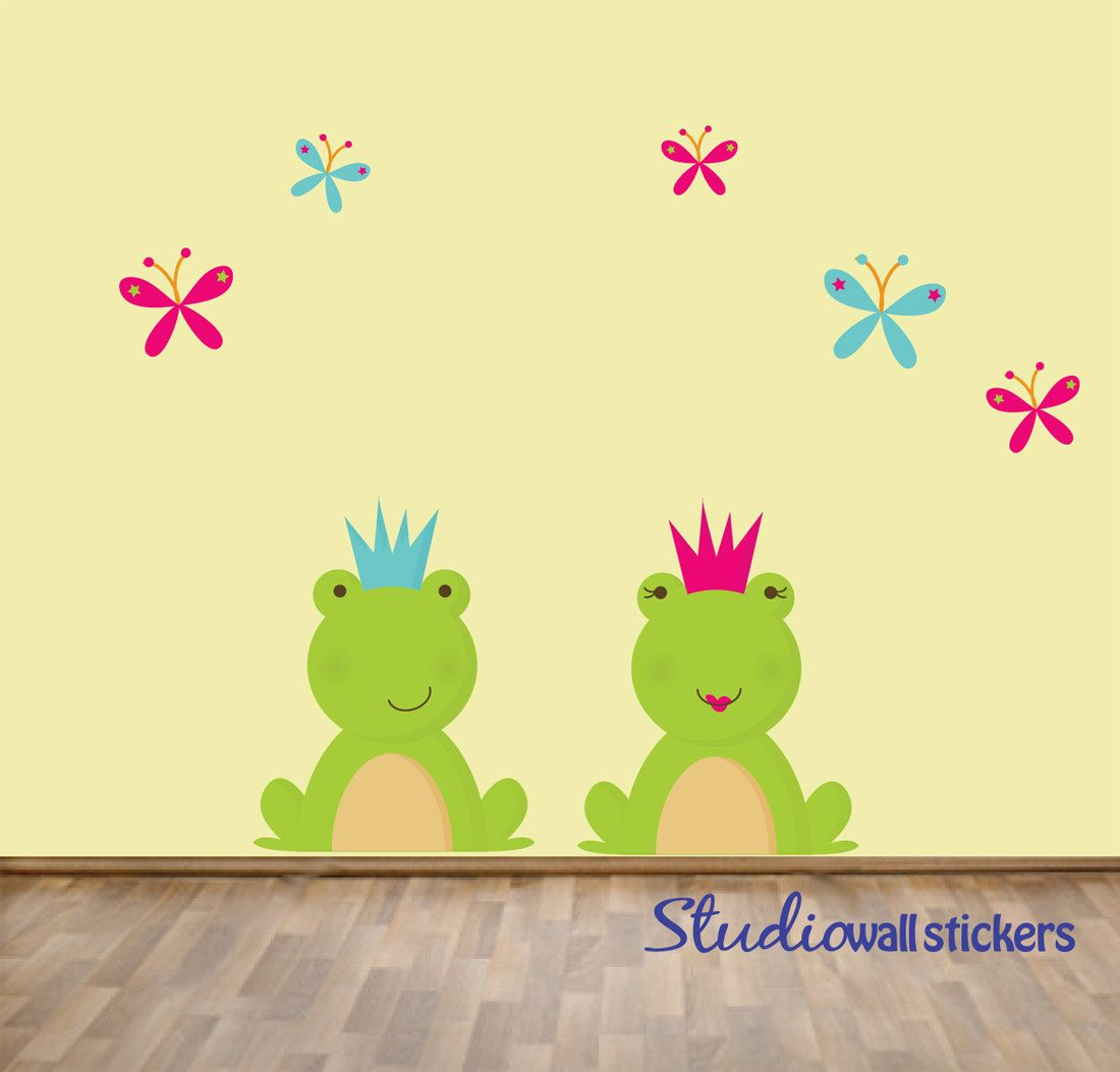 Childrens Wall Decal - Childrens REUSABLE Fabric Nursery Wall Decal ...
