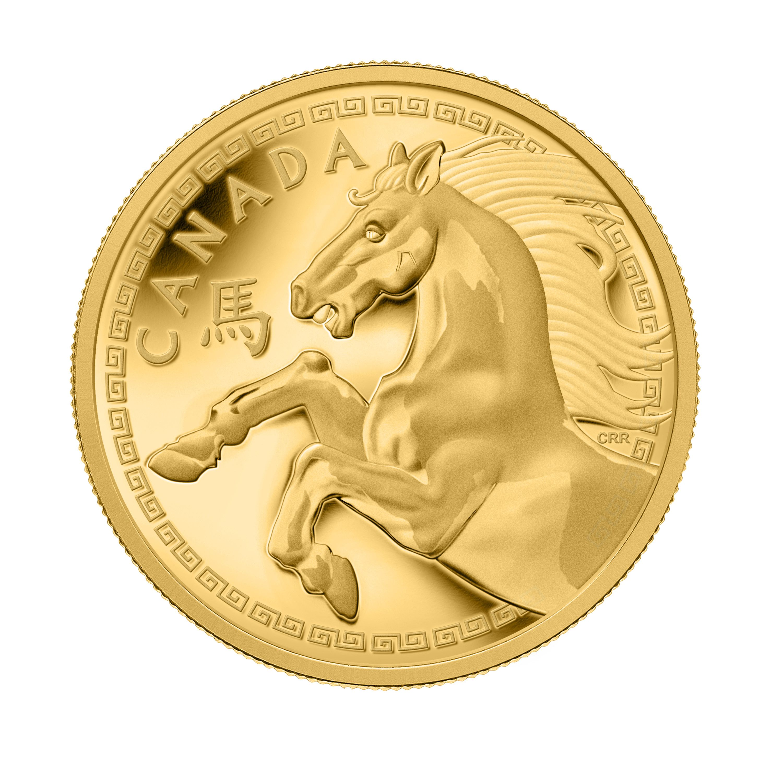 $100 2015 HORSE CHEVAL 1OZ Pure Silver Proof Coin Canada