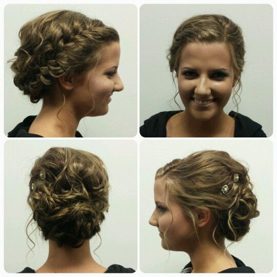 Beautiful up style for this maid of honor at Head Over Heels