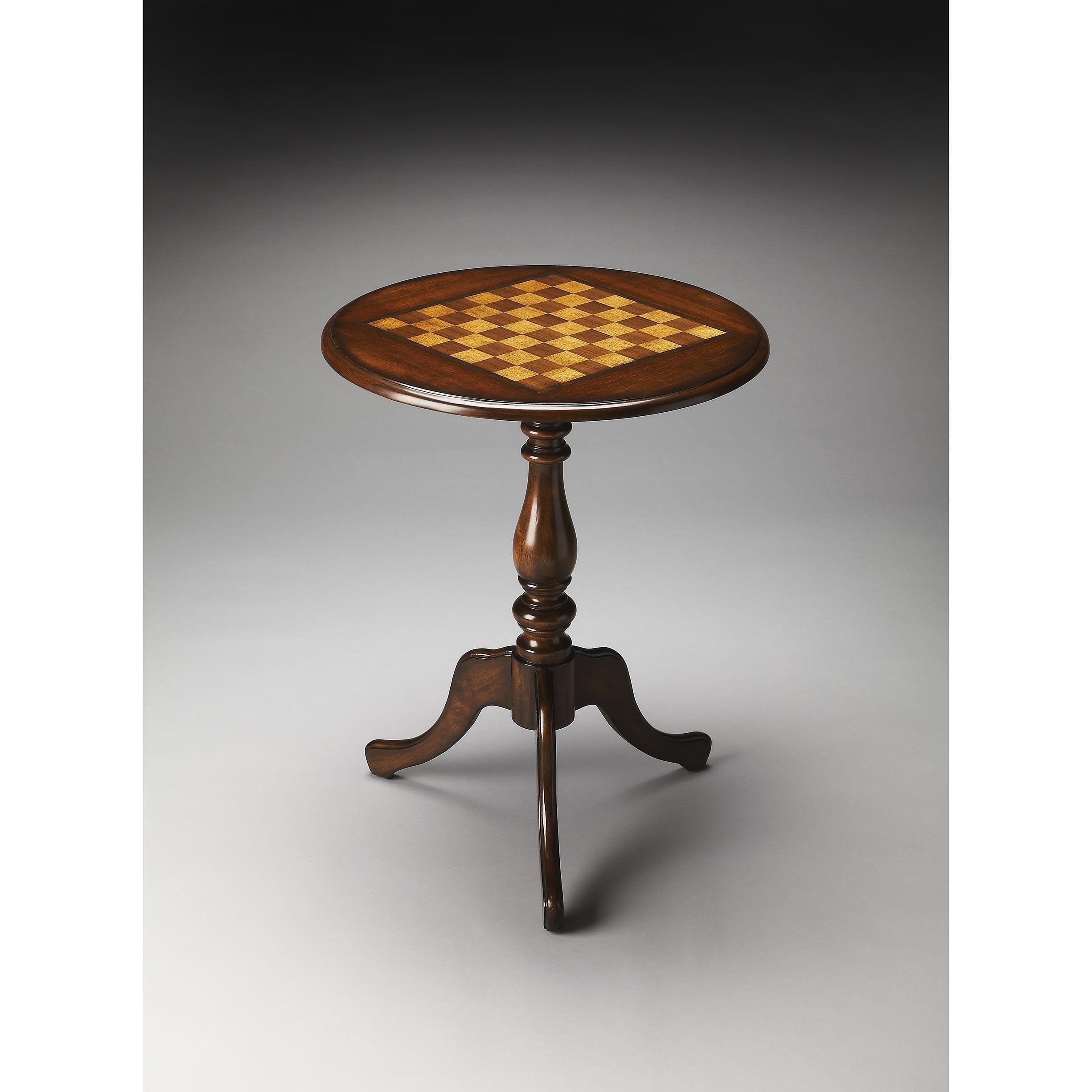 Handmade Butler Plantation Cherry Game Table China Dark