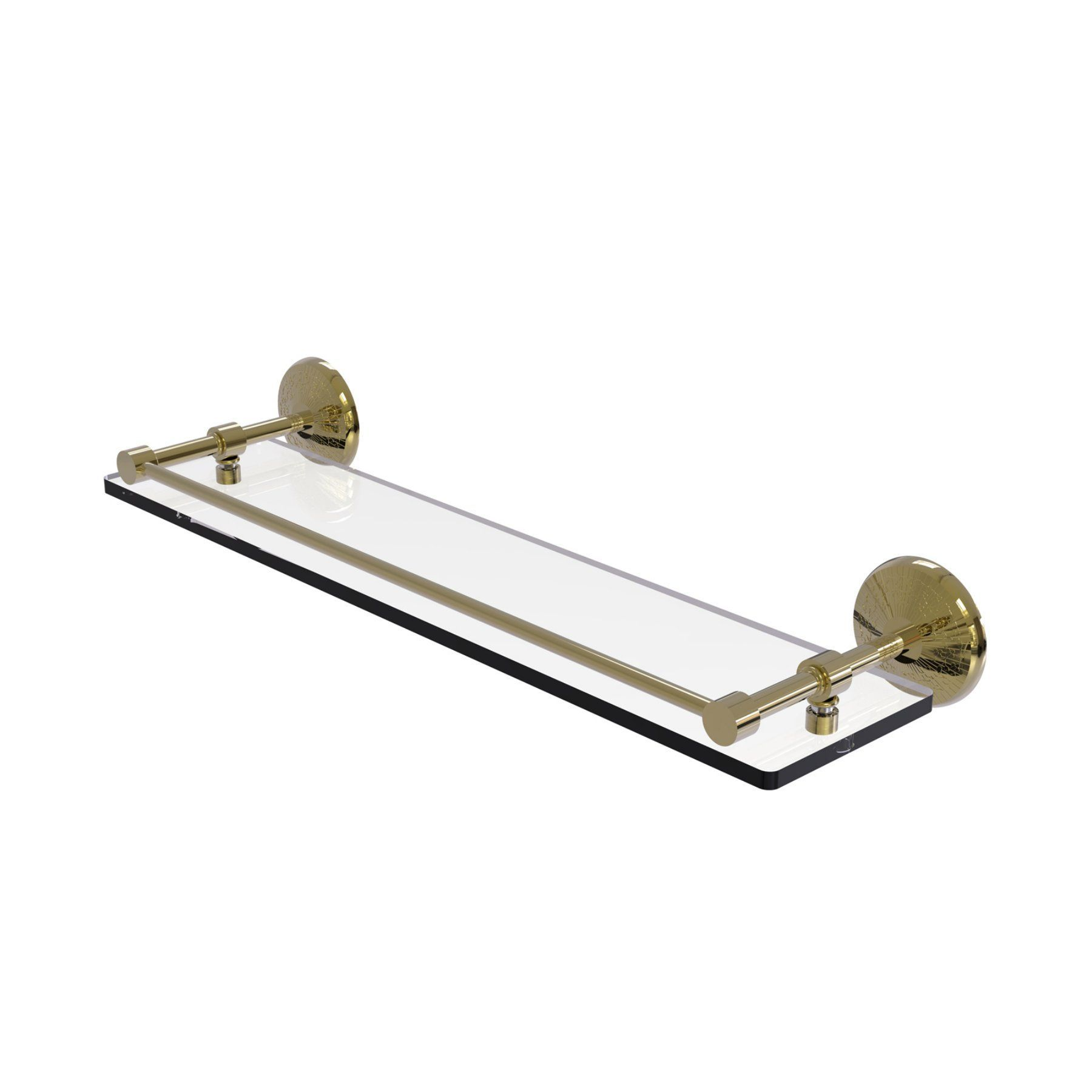 Allied Brass Monte Carlo Tempered Glass Shelf with Gallery Rail - MC ...