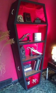 Coffin Bookcase Easy To Make My Creation And Designs