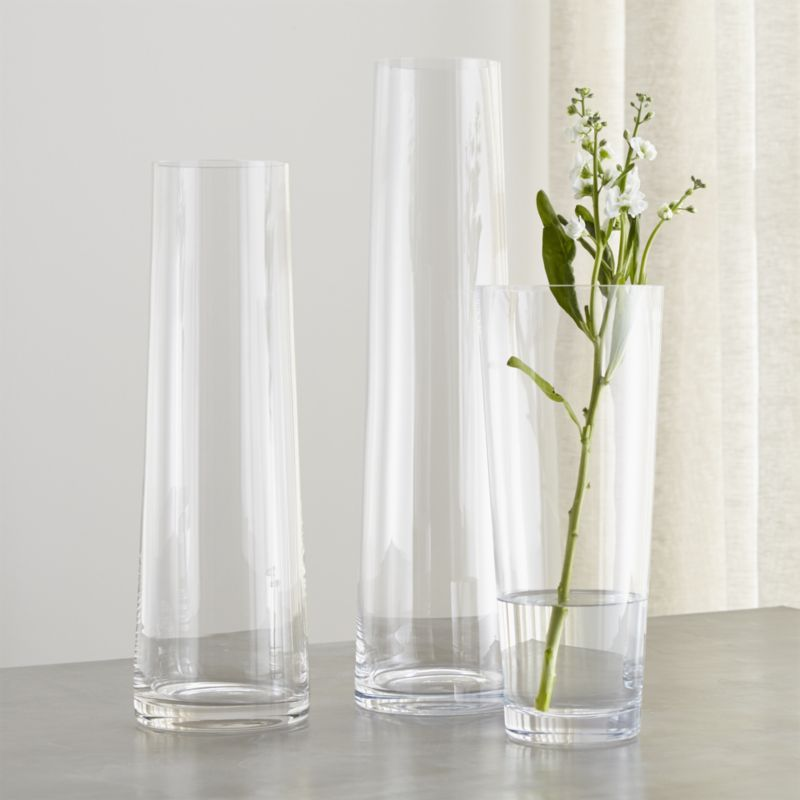Palmetto Tall Glass Floor Vases Crate And Barrel Glass Floor