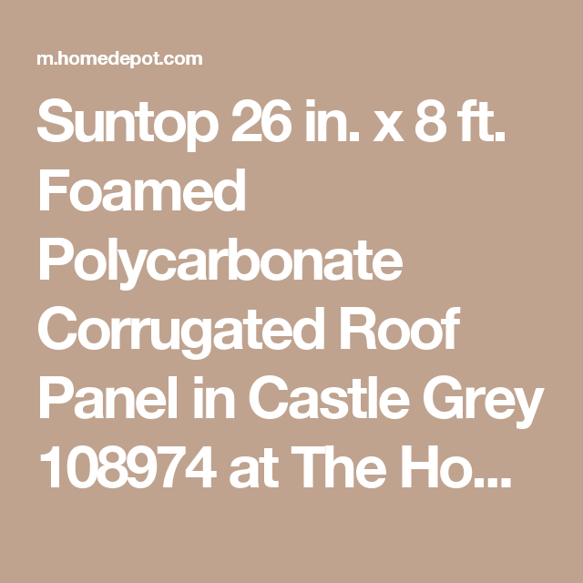 Suntop Foamed Polycarbonate Corrugated Roof Panel - 12 300 About Roof