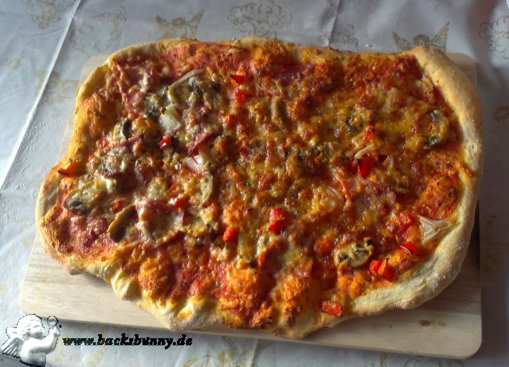 Pizza selbstgemacht.