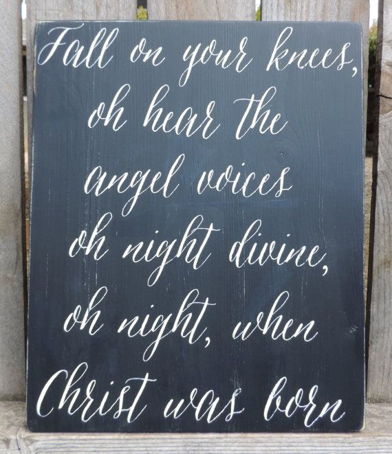 Fall On Your Knees Chalkboard Inspired by AnchoredSoulDesignCo   Fall on your knees, Christmas ...