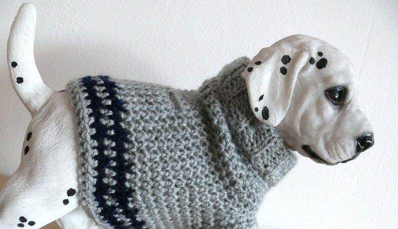 Hundemantel aus Wolle gehäkelt Größe S von stitchbully.de auf ...