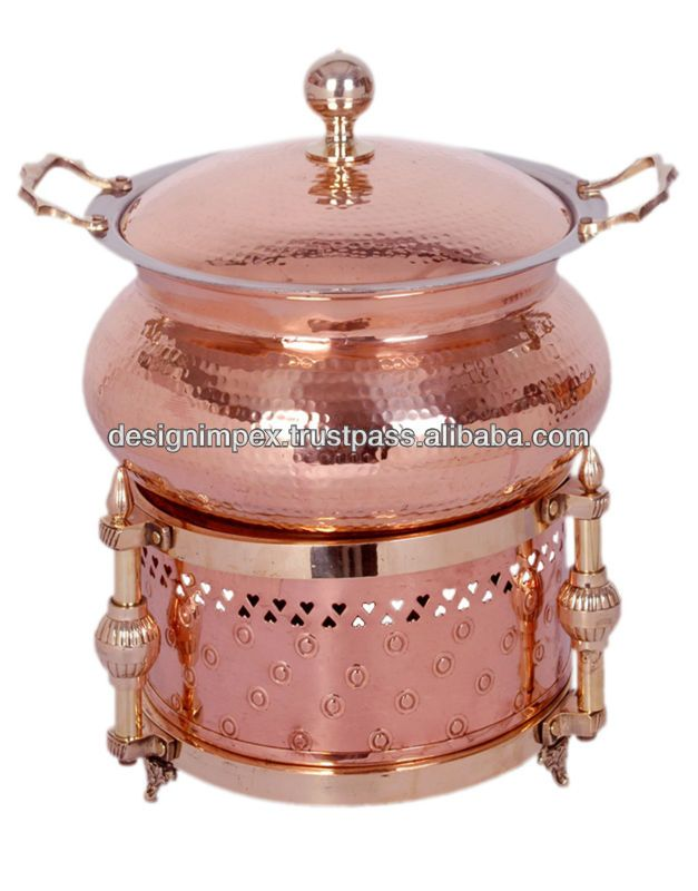 Copper Cheffing Dish Wedding Party Utensils Food Serving Dish Hot Keeping Dish Catering Item Hotel Restaurant Utens Party Utensils Chafing Dishes Tableware