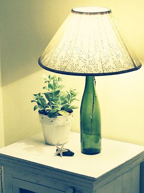 No drill wine bottle table lamp diy no drill wine bottle table lamp mozeypictures Gallery