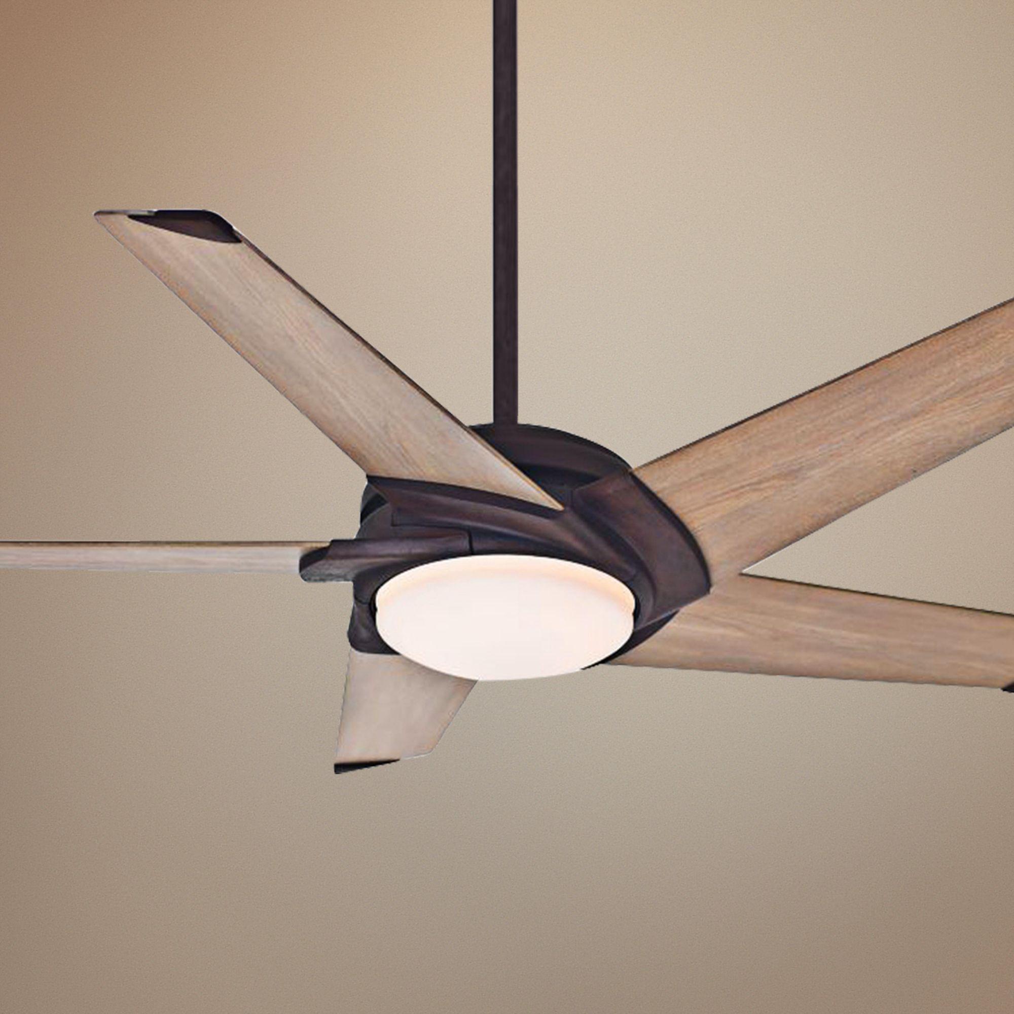 "Casablanca Stealth LED Ceiling Fan 54"" Industrial Rust"