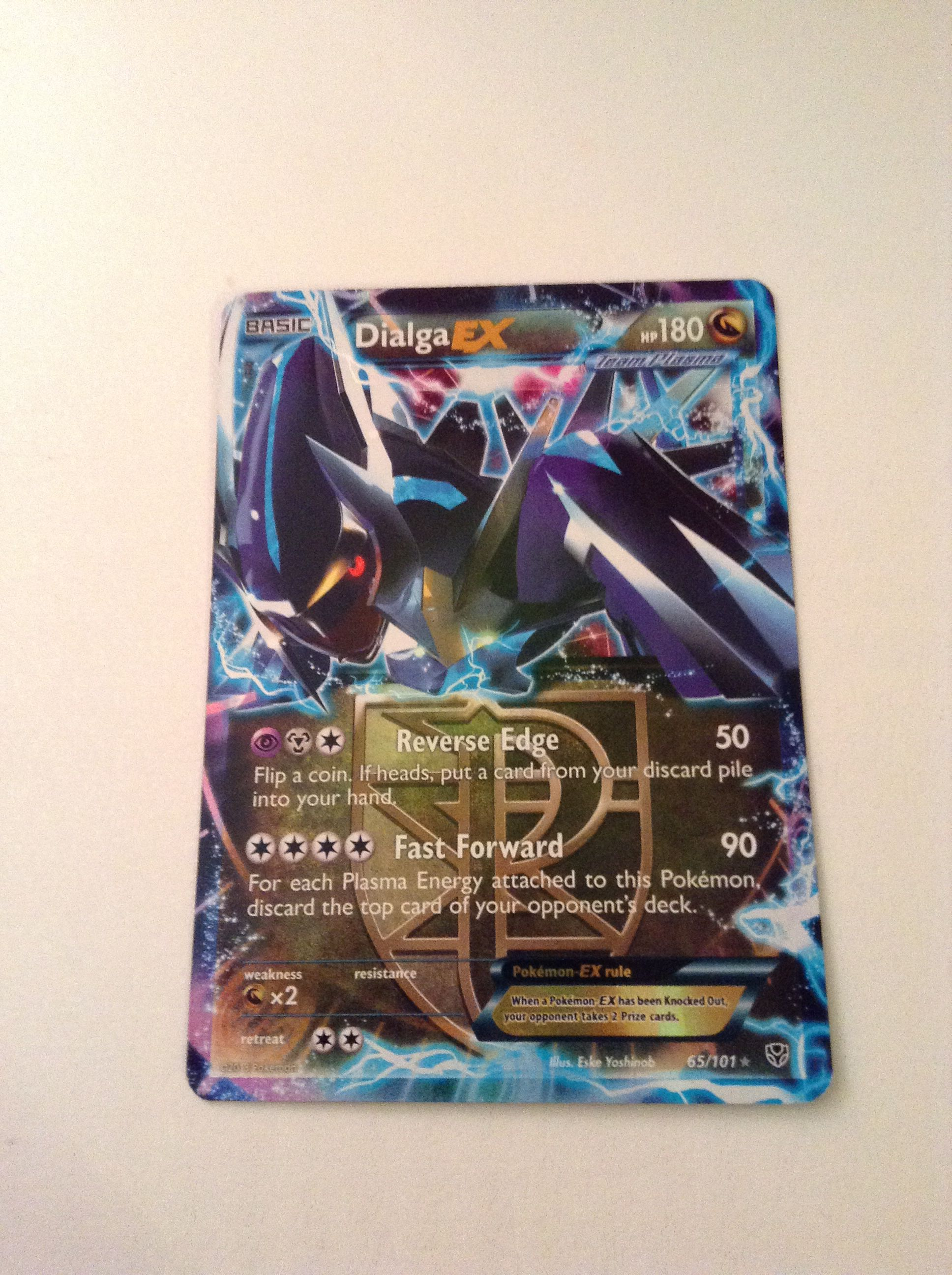 My dialga ex i traded it though pokemon book cover cards