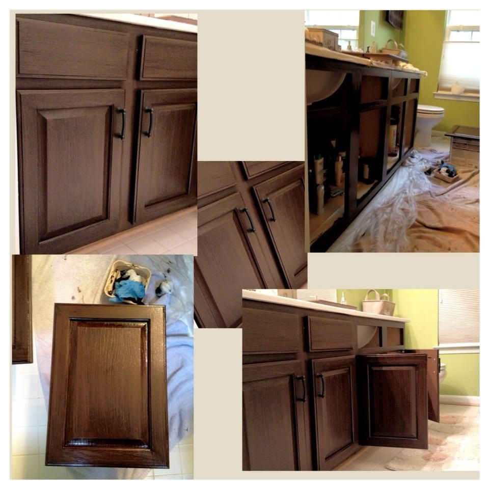 Vanity Transformation Rust Oleum Cocoa Color Decor