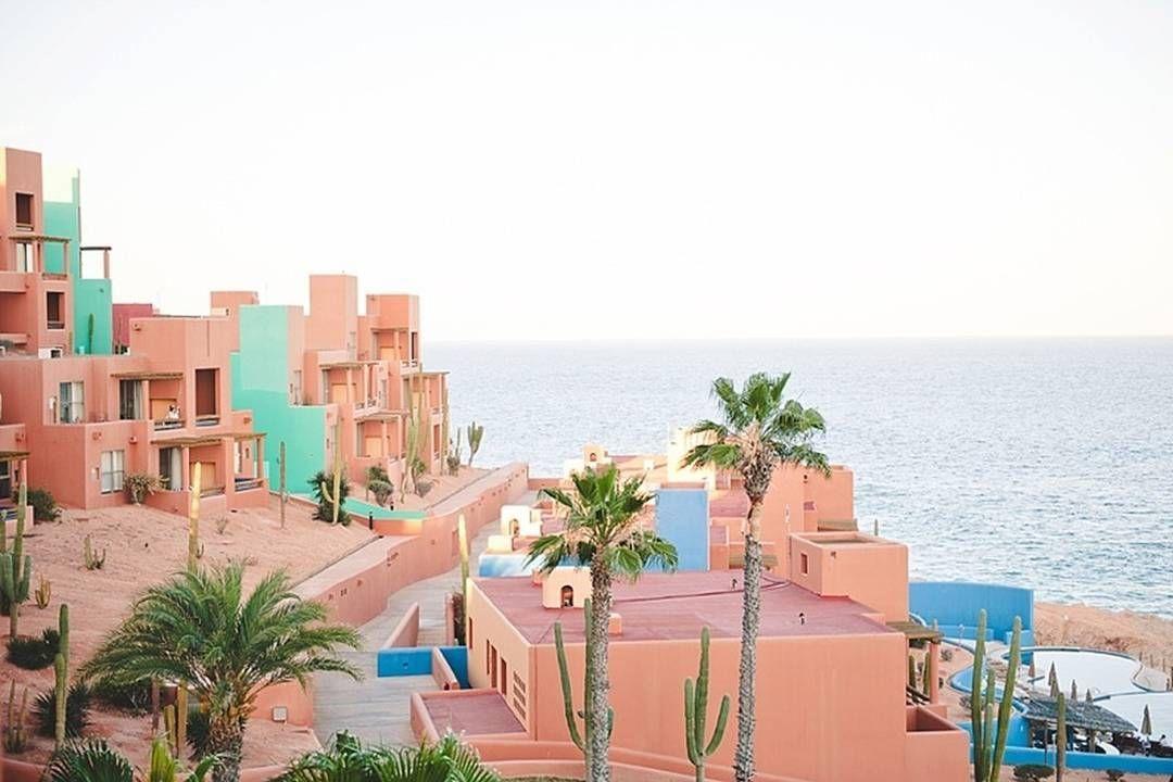 Honeymoon Na Ponta Sul Da Península De Baja California Há Uma área Belos