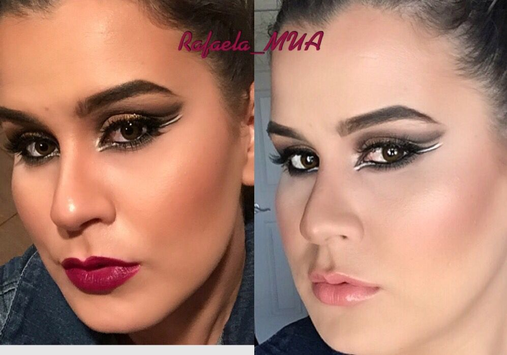 Day makeup to night makeup  #plumlips&#nudelips