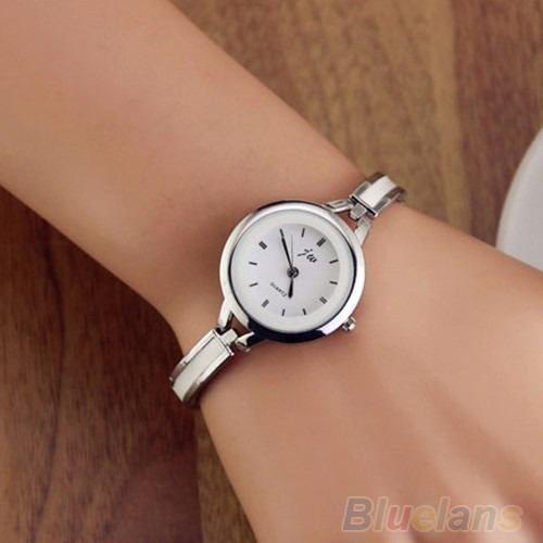 86931ca84a7 relógio feminino importado pulseira em aço inoxidável Mais