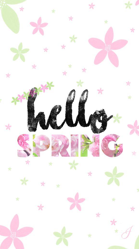 Hello Spring Iphone Lock Wallpaper Panpins Iphone Wallpaper Themes Flower Wallpaper Spring Wallpaper Iphone lock screen iphone spring