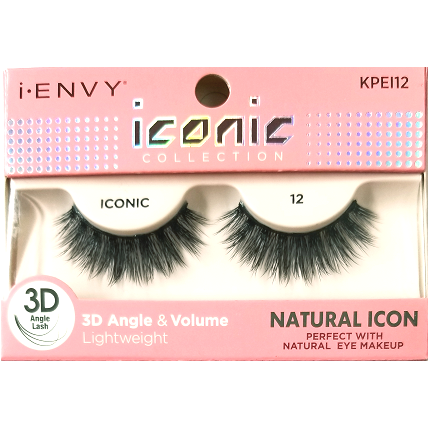 eeed0b942b6 Kiss i-ENVY iconic Collection Natural Icon 3D Angle Eyelashes 1 Pair Pack -  iconic 12 #KPEI12 $4.49 Visit www.BarberSalon.com One stop shopping for ...
