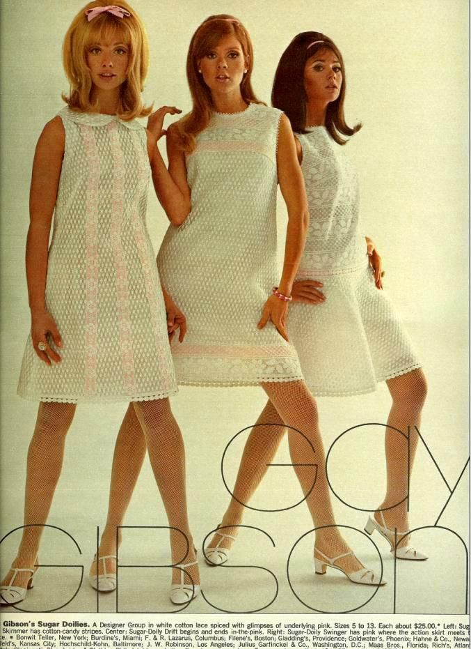 60's style collection Gay Gibson 1969 Fashion in 60's