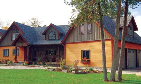 The Craftsman Home Package From Linwood Homes Is An Intricately Detailed  Post And Beam Cedar Home