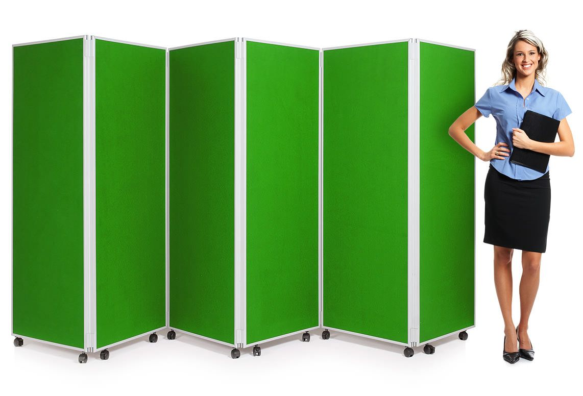 6 Panel Mobile Concertina Screen Room Divider Is Perfect As A Temporary Partition To Divide A