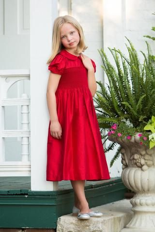Scarlett Red Smocked Dress Products