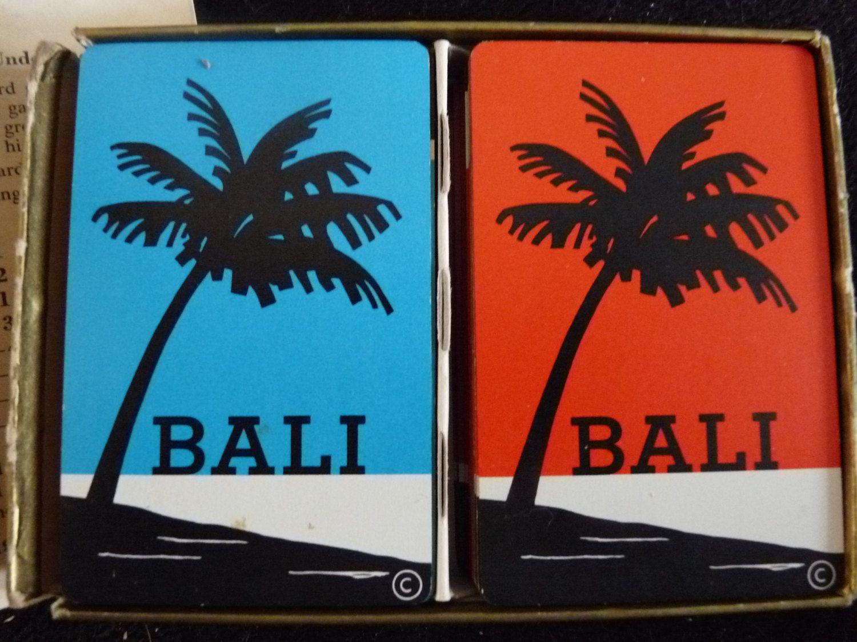 Bali 1954 word game very fun two decks of cards