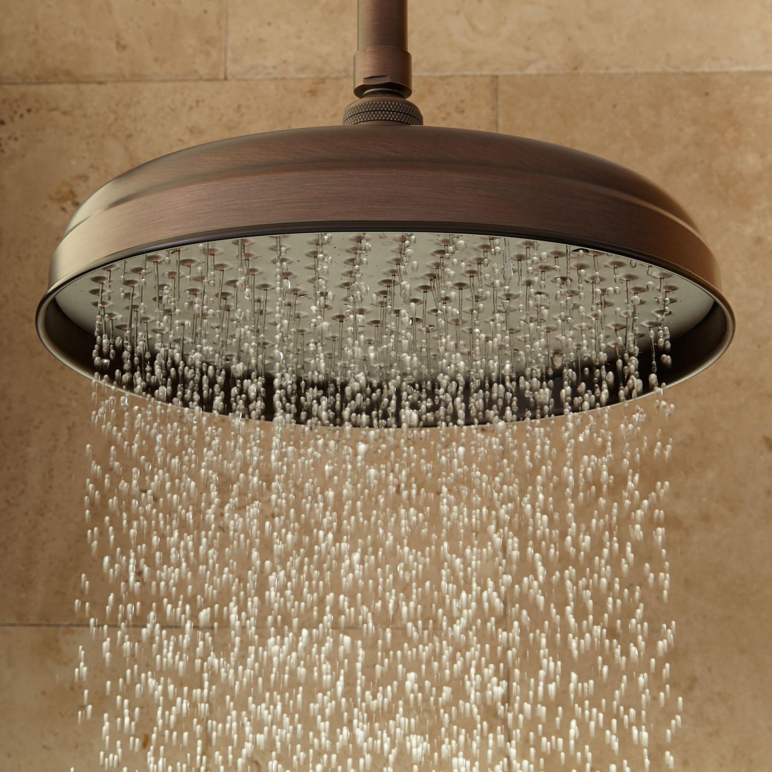 8 Lambert Rainfall Shower Head In 6 Ceiling Arm In Oil Rubbed