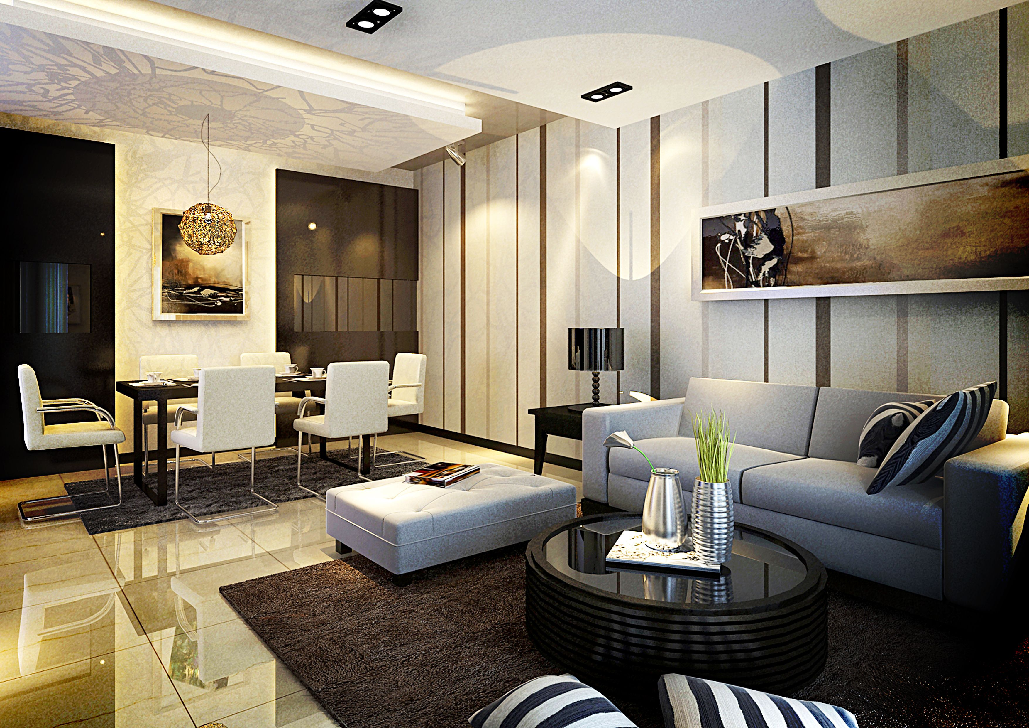 Elegant interior design in singapore interior design for Home drawing room design
