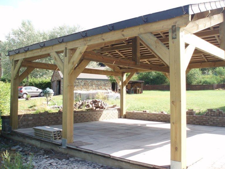 Wood Carports Oak Carport Kits Uk Carport Rustic Pergola Carport Sheds