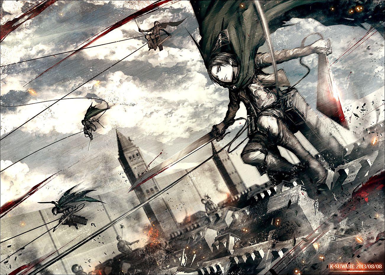 進撃の巨人 リヴァイ兵長 ケースワベ K Suwabe のイラスト
