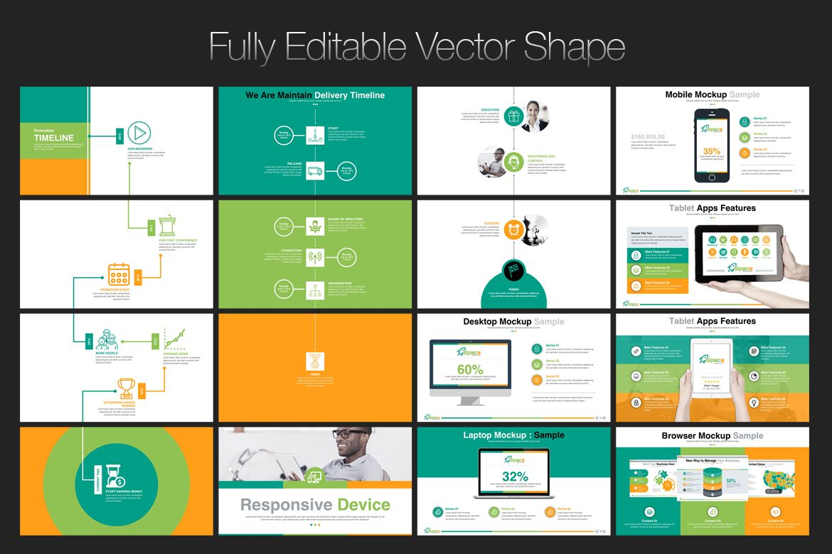 startup business - presentation powerpoint template | logo designs