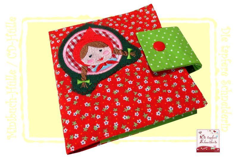 Minibuch-Hülle, CD-Hülle Rotkäppchen von Die tapfere Schneiderin, handmade with love ... by Viola auf DaWanda.com