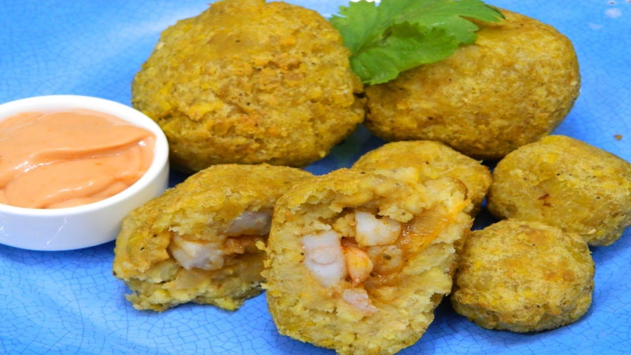 How To Make Puerto Rican Mofongo Balls Stuffed With Shrimp Boricua Recipes Food Recipes