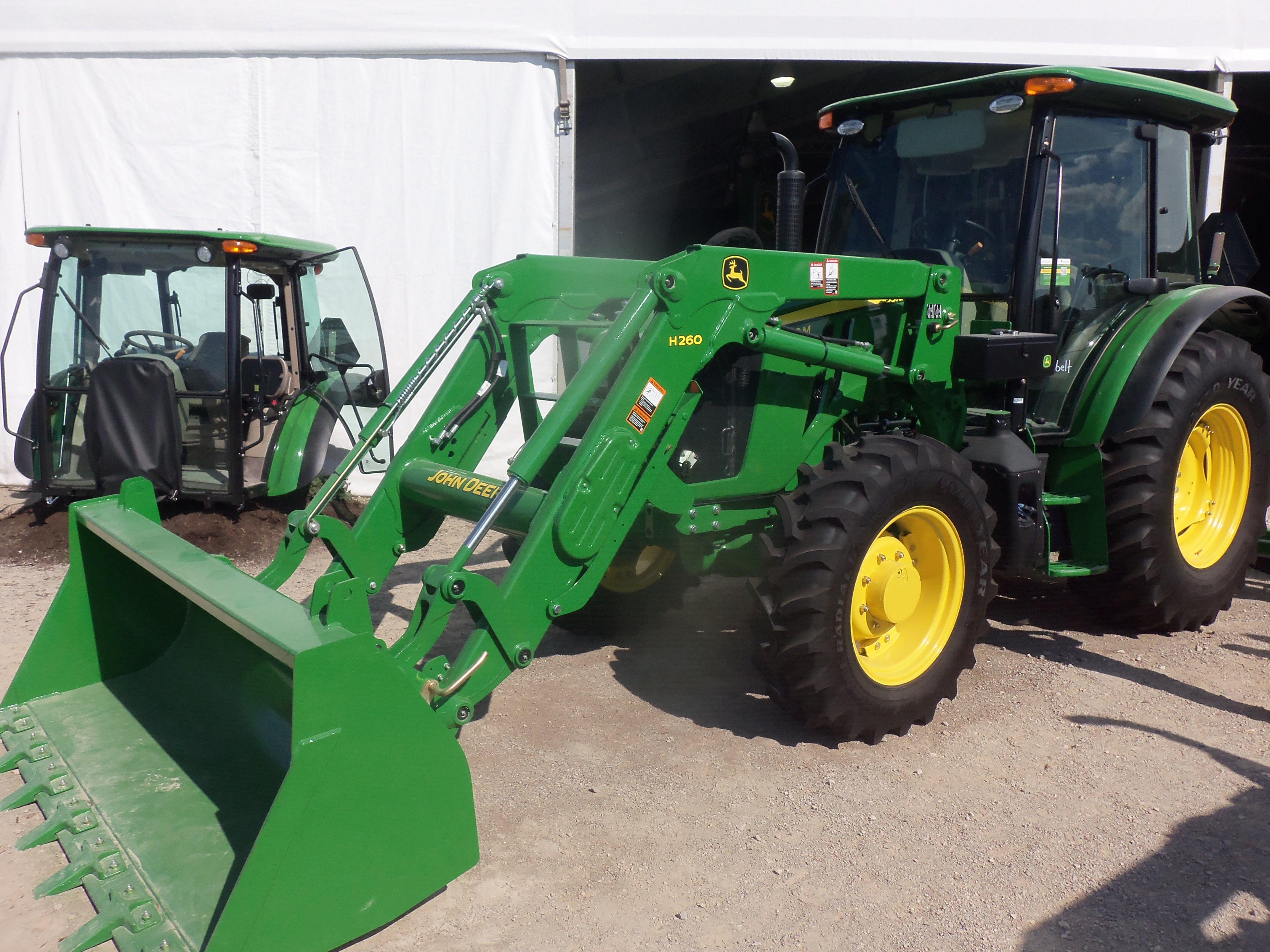 John Deere 5100M cab tractor & H260 loader