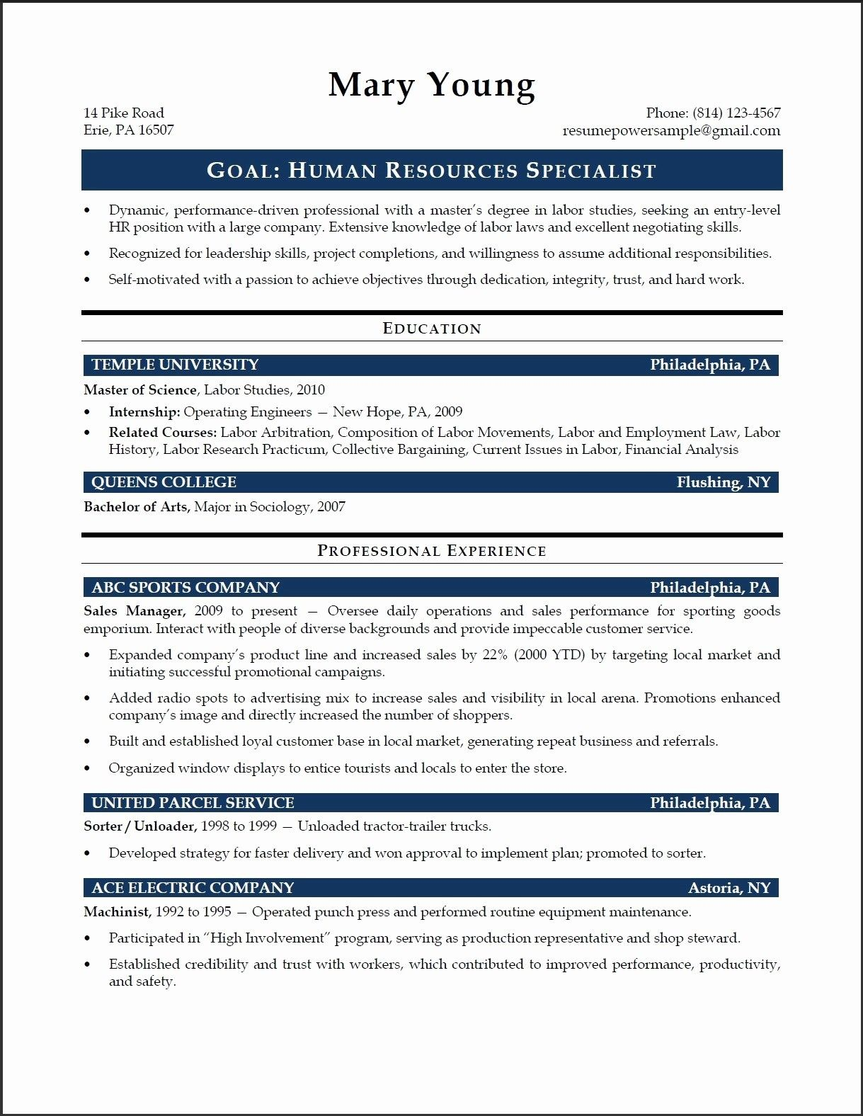 65 New Photos Of Human Resources Representative Resume Examples