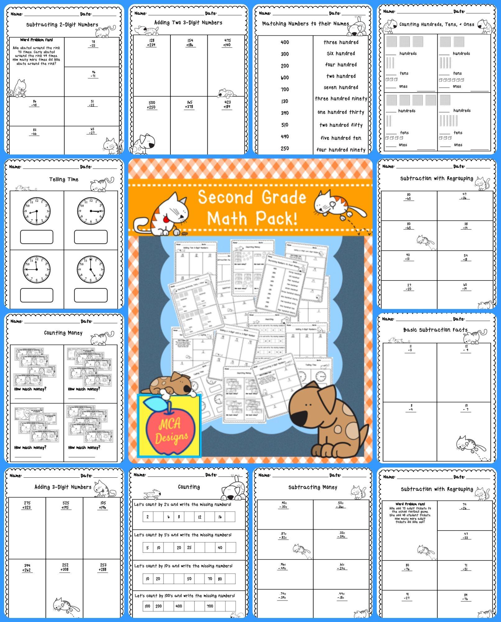 Second Grade Math Pack