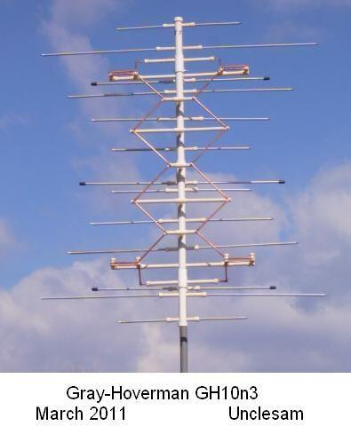 GH10n3 Gray-Hoverman TV Antenna | Ham Radio | Diy tv antenna