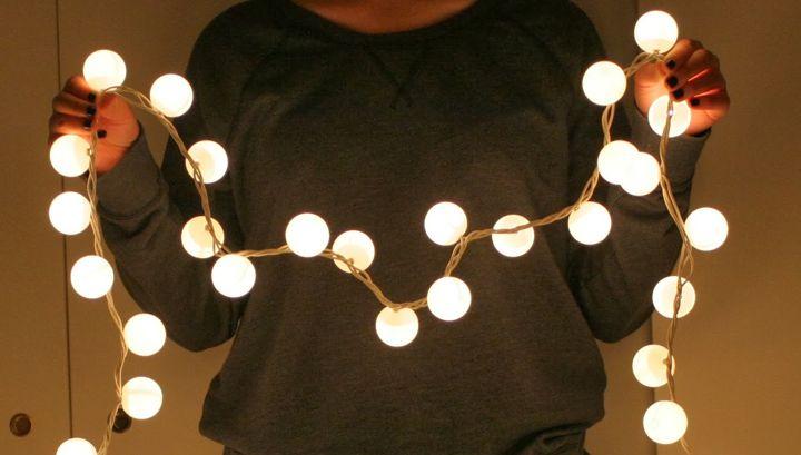 guirnalda de luces con poco dinero - Guirnaldas De Luces