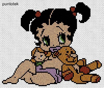 BETTYBOOP CUTE en punto de cruz.