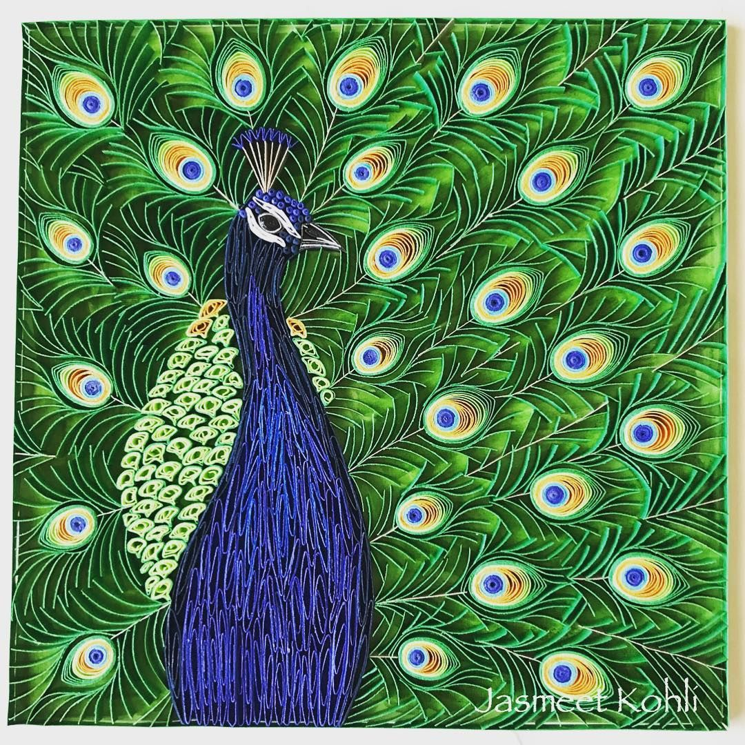 The dancing Peacock. #quilling #jasmeetkohli #paperquilling ...